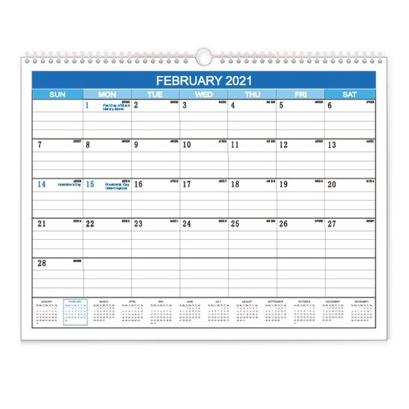 Academic Wall Calendar 2020-2021 Hanging Monthly Calendar for Planning and Organizing Home or Office, for School