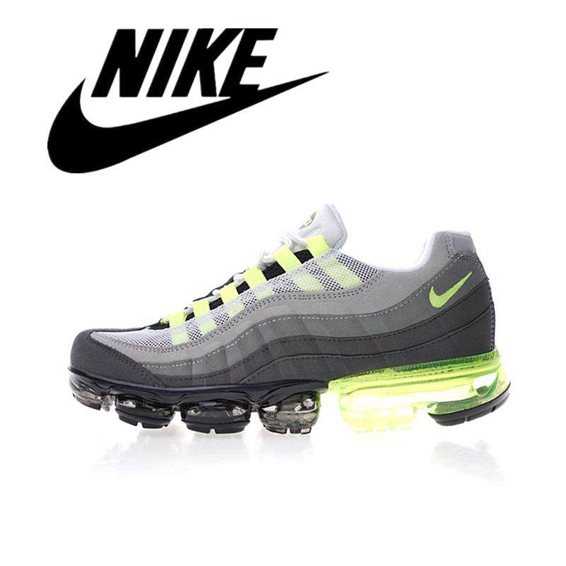 9e9a090cd Nike Air Vapormax 95 OG Men's Shoes Gray and Light Green Shock Absorber  Breathable Non-