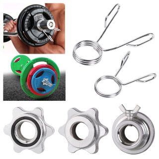 GORGE Sport Weight Olympic Steel Spring Barbell Bar Clips Dumbbell Spinlock Collars Check Nut Spin Lock Screw thumbnail