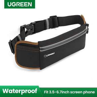 UGREEN Running Belt Pouch Runners Fanny Pack Waist Bag for OPPO, VIVO, iPhone XR, iPhone 8, iPhone 7 Plus, iPhone 6S 6 Plus, Samsung Galaxy S9 S8 S7 S6 Edge, Waterproof and Reflective