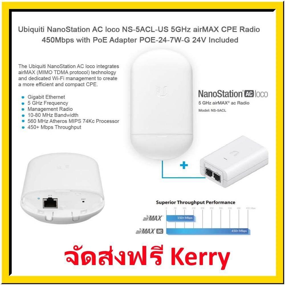 Ns-5acl-Ubiquiti Airmax Nanostation Ac Loco + Free Lan Cable Cat 5e Rj45 Length 70 Cm. Amount 1 Piece.