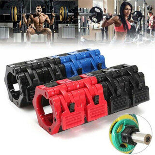 GORGE 2Pcs Olympic Gym Lock Fitness Training Dumbell Clips Body Building Weight Clamps thumbnail