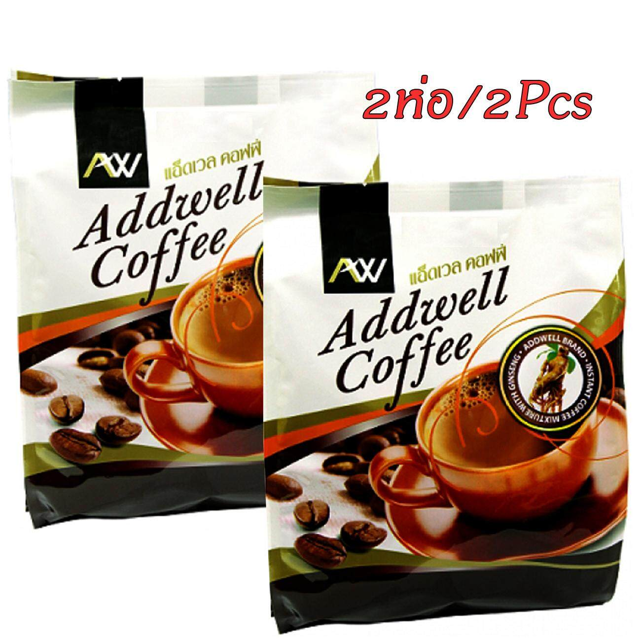 (2ห่อ)กาแฟโสม แอ็ดเวลคอฟฟี่ 60ซอง