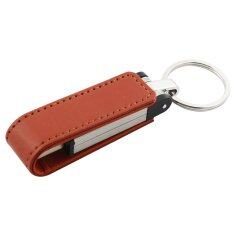 ซื้อ 32Gb High End Leather Otg Micro Usb 3 Flash Memory Drive Stick Pen Thumb U Disk Brown