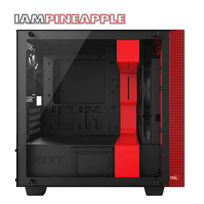 Nzxt Case H400 Tempered Glass [black/red] By Jura.