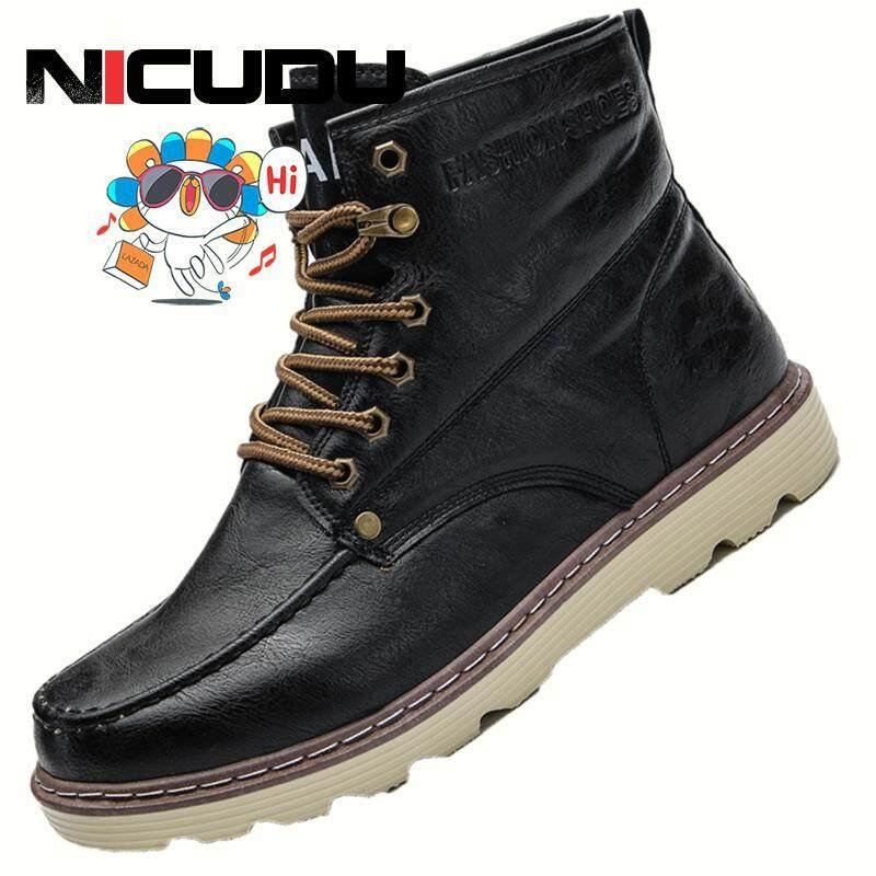 Nicudu ผู้ชายรองเท้าฤดูหนาวที่อบอุ่นสะดวกสบายปลอดภัยในการทำงานรองเท้าผู้ชายฤดูหนาว By Nicudu Official Store.