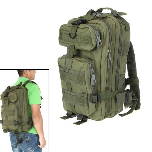 Coupon Khuyến Mãi 30L Nylon Outdoor Sport Military Backpack Rucksacks Camping Hiking Trekking Bag Army Green