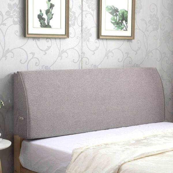 bag Bedside soft solid wood bed cushion hotel backrest tatami bedside Cover detachable fabric pillow