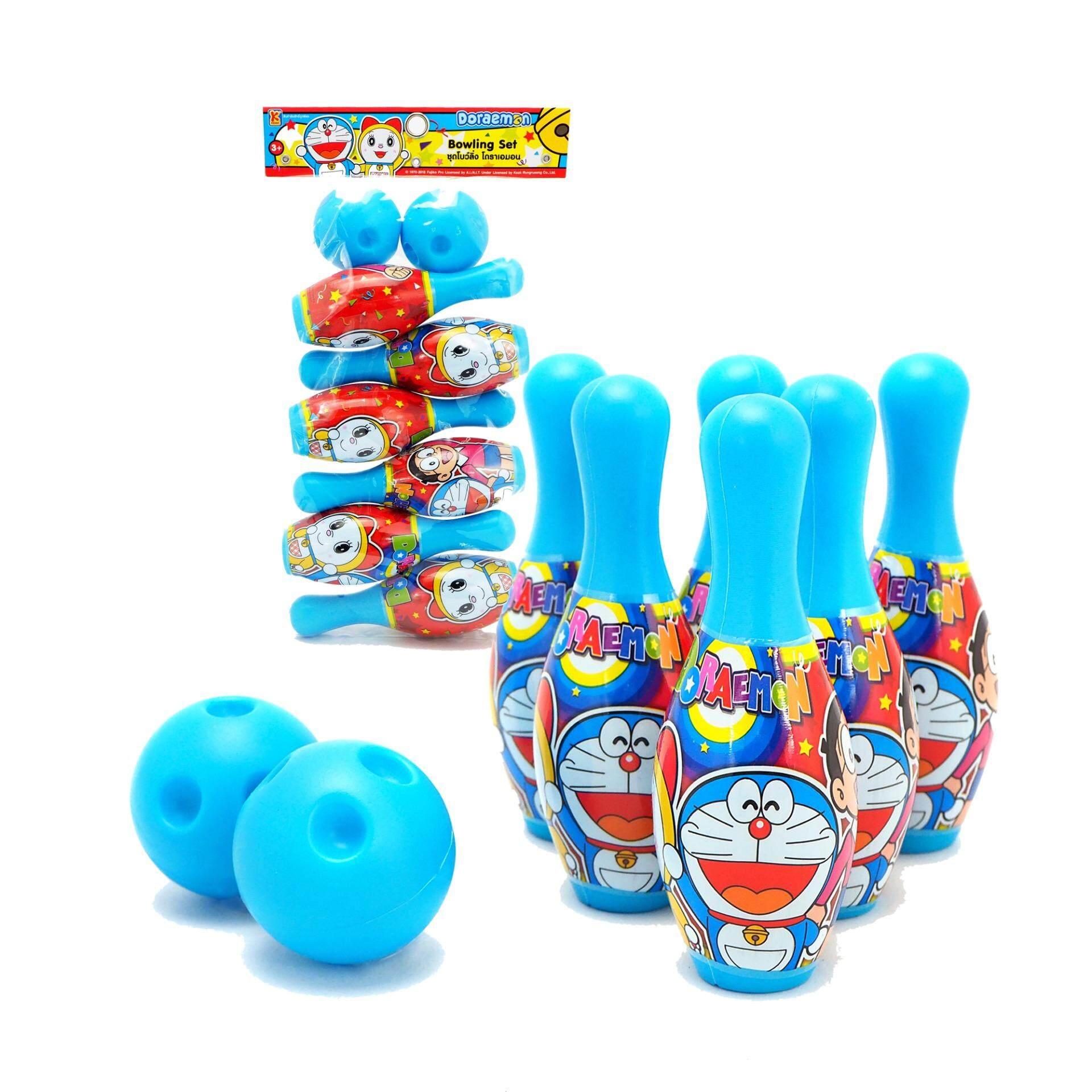 Powertoys ชุดโบว์ลิ่ง โดราเอมอน ลายลิขสิทธิ์แท้ขนาด ย 18*ก 4.3*ส 30 ซม. By Power Toys.