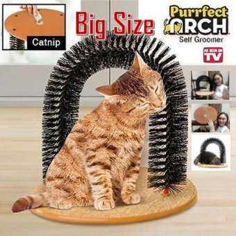 Lovecats Model CD001 แปรงนวดขนแมว อเนกประสงค์ ใช้นวดตัวและดักจับขนแมวที่หลุดร่วง ซุ้มแปรงถูหลังแมว หวีและที่แปรงขนแมว-