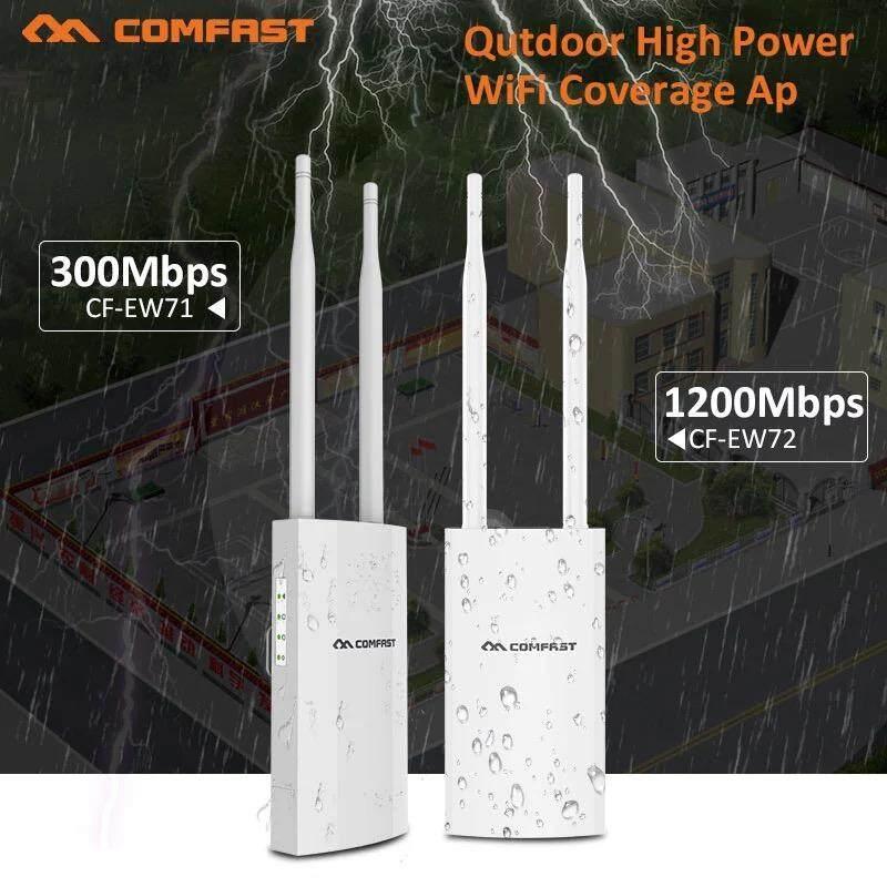 Comfast Cf-Cf-Ew71~72 พลังงานสูงกลางแจ้ง Cpe เราเตอร์ไร้สาย 300 Mbps 2.4 กรัม / 5 กรัม Wifi สะพานจุดเชื่อมต่อ 500 เมตรกันน้ำ Ap เราเตอร์ Wifi Repeater Extender.