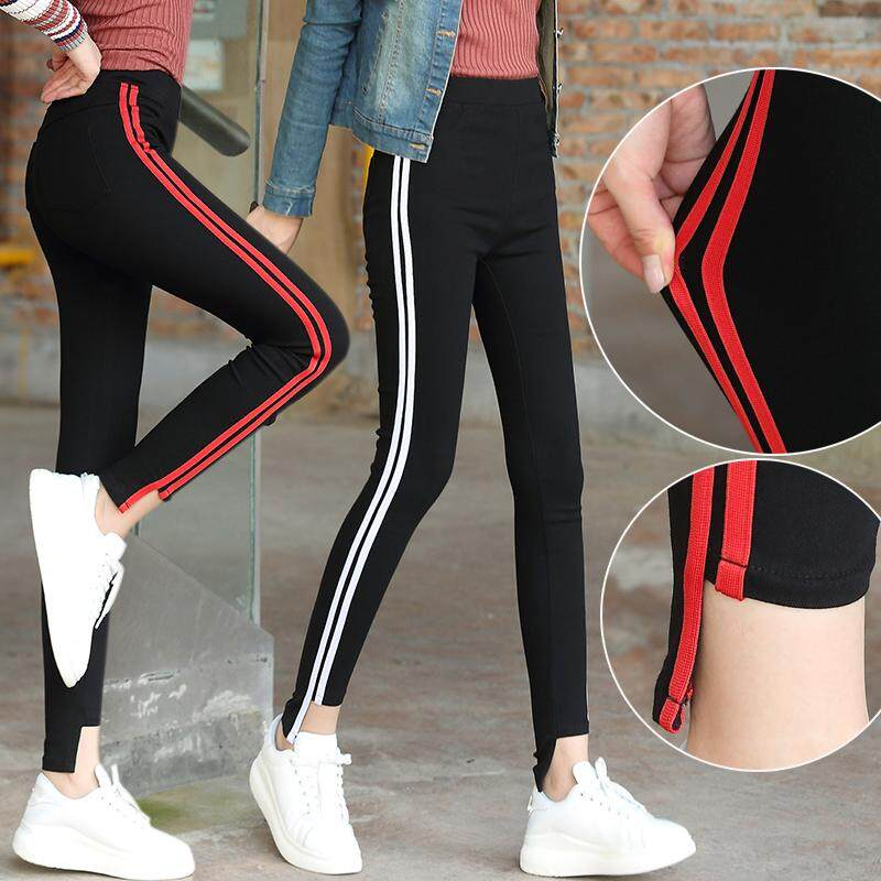 20192019 Spring New Style Vertical Striped Casual Pants Versatile Students Uniform Pants Parallel Bars Tight Harlan Baggy Pants By Taobao Collection.