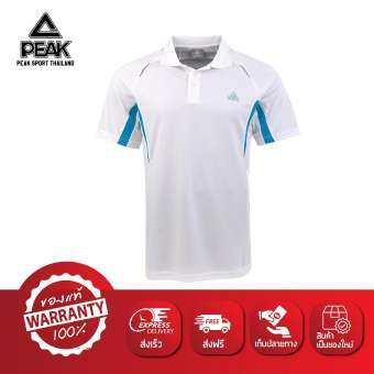 PEAK เสื้อ กีฬา ฟิตเนส Polo T-Shirt Fitness Sport พีค รุ่น F612661 White-