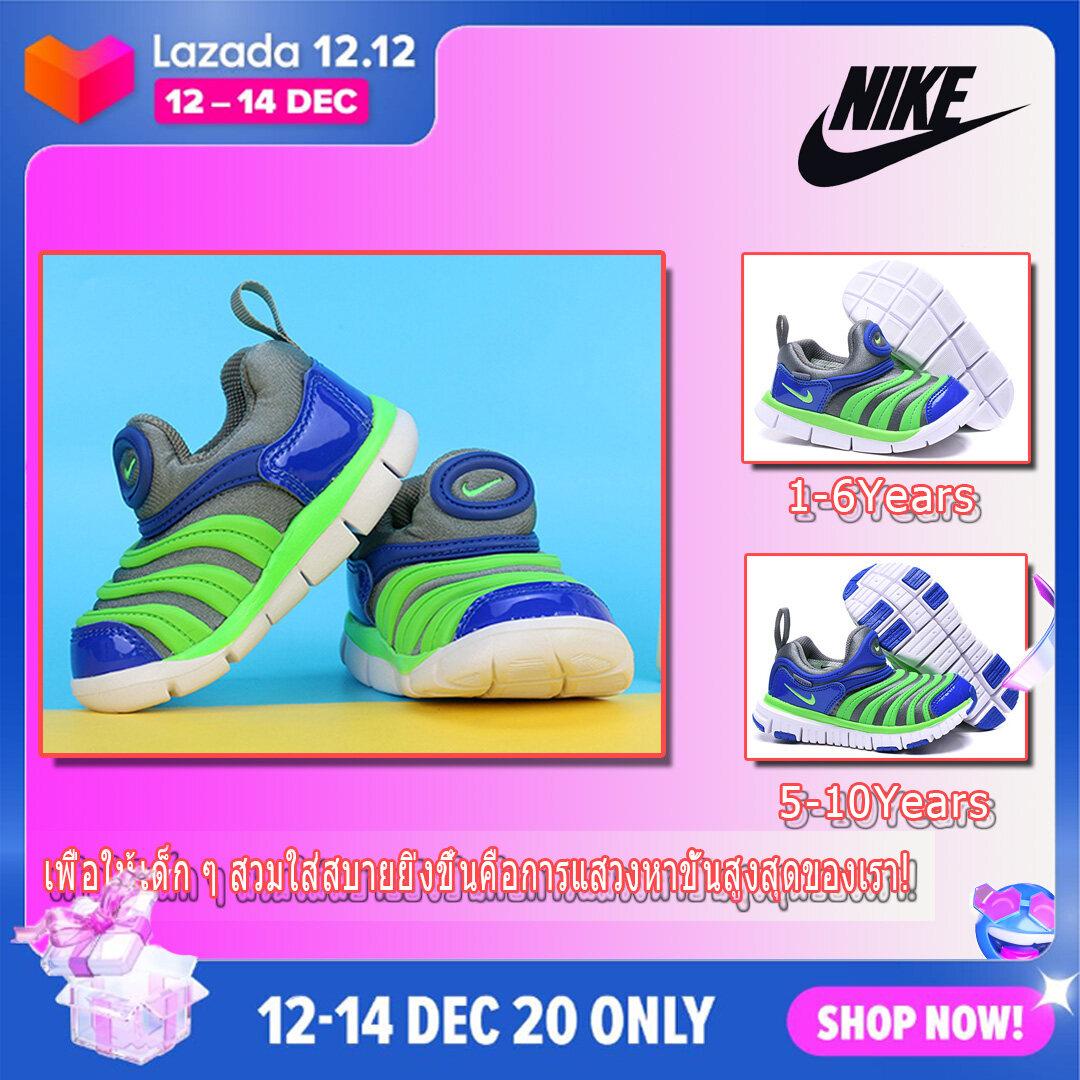 แนะนำ พร้อมส่งจากไทย!! NIKE รองเท้าผ้าใบเด็ก รองเท้าเด็กชาย รองเท้าหุ้มข้อเด็ก ขนาด 12-20 เซ็นติเมตร(สีแดง/ฟ้า)Baby Shoes Boys Girls Shoes Sneakers Soft-soled Toddler Shoes Sports Shoes 0-12 Years