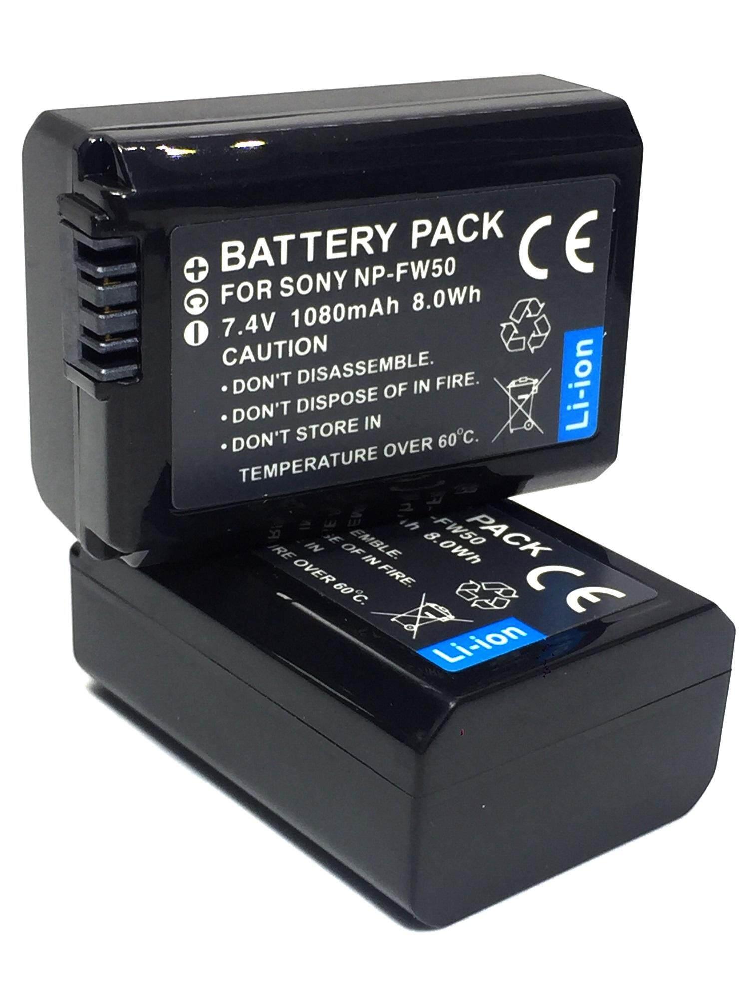 (แพ็คคู่ 2 ชิ้น)np-Fw50 แบตเตอรี่โซนี่ A3000,a3500,a5000,a5100,a6000 Sony Battery By Jaoying_shop.