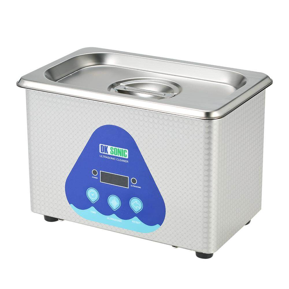 0.8L Stainless Steel Household Digital Ultrasonic Cleaner Tank Jewelry Watches Circuit Board Cleaning Sterilizing Machine AC220-240V EU Plug