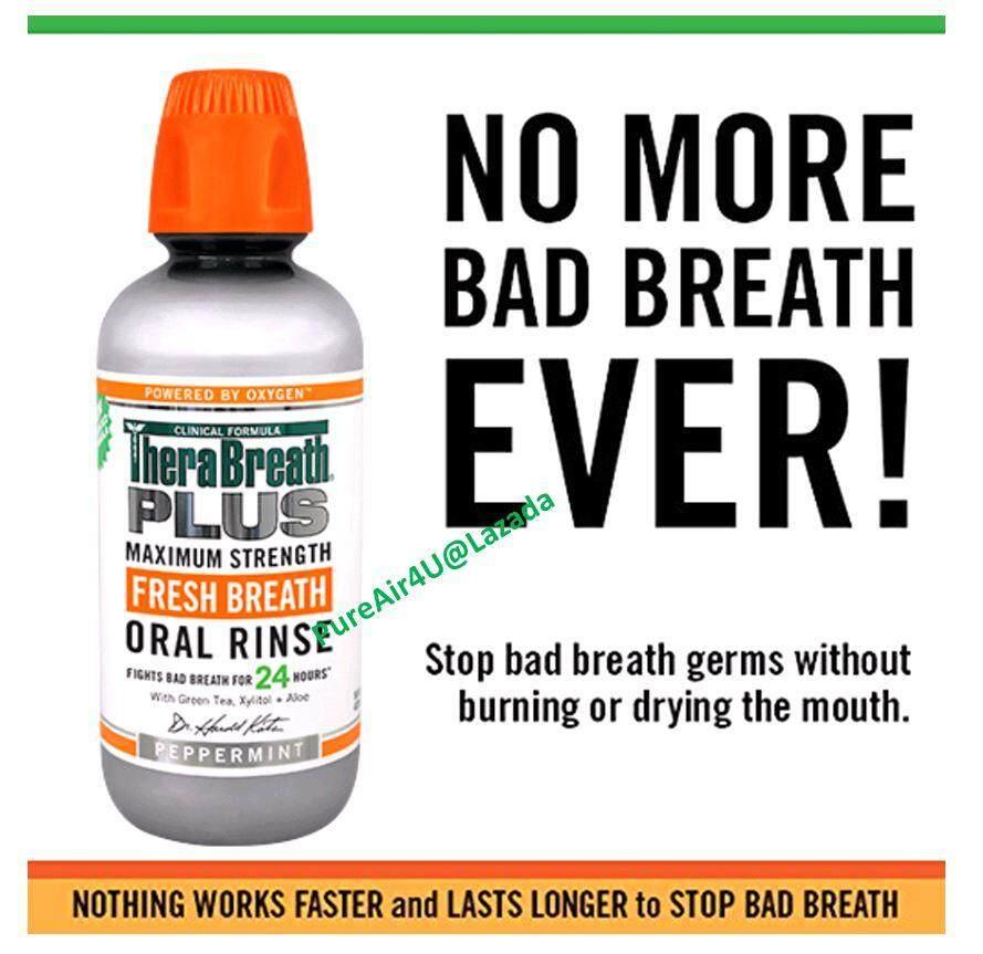 (ขายถูก) TheraBreath น้ำยาบ้วนปาก สูตร MAXIMUM STRENGTH (473 ml.)ขายดีในอเมริกา TheraBreath 24-Hour PLUS Oral Rinse Our advanced MAXIMUM STRENGTH formula attacks all bad breath! - therabreath