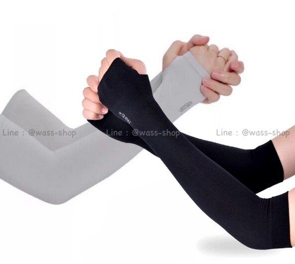 ปลอกแขน Arm sleeve กันแดด เกี่ยวนิ้ว แบบบาง กันยูวี free size Unisex