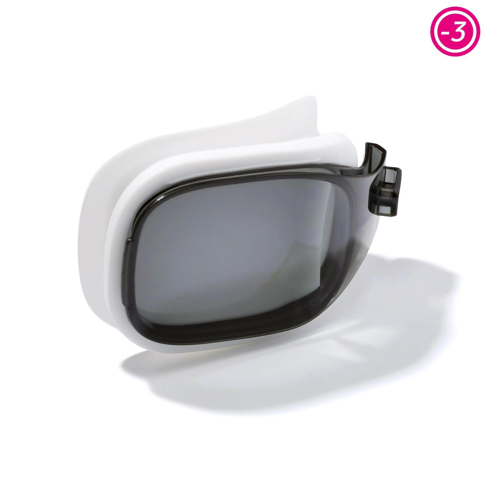 [ด่วน!! โปรโมชั่นมีจำนวนจำกัด]เลนส์ปรับสายตาสำหรับแว่นตาว่ายน้ำ รุ่น SELFIT ขนาด L (สี SMOKE) สายตาสั้น -3