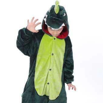 ชุดมาสคอตเด็ก ชุดแฟนซีเด็ก ชุดไดโนเสาร์เด็กสีเขียว พร้อมส่ง