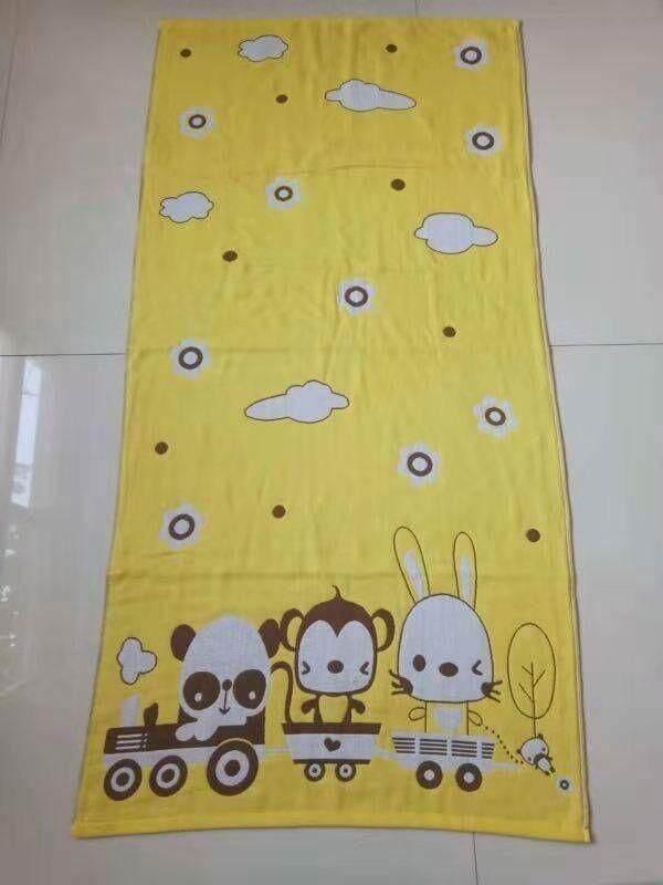 ผ้าเช็ดตัวสาลู ลายการ์ตูน By Tak_wachiraporn.