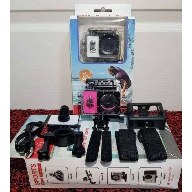 กล้องบันทึกวีดีโอติดหน้ารถ หมวกกันน็อค จักรยาน สามารถบันทึกในน้ำได้  ราคา 430 บาท รวมเก็บเงินปลายทาง.