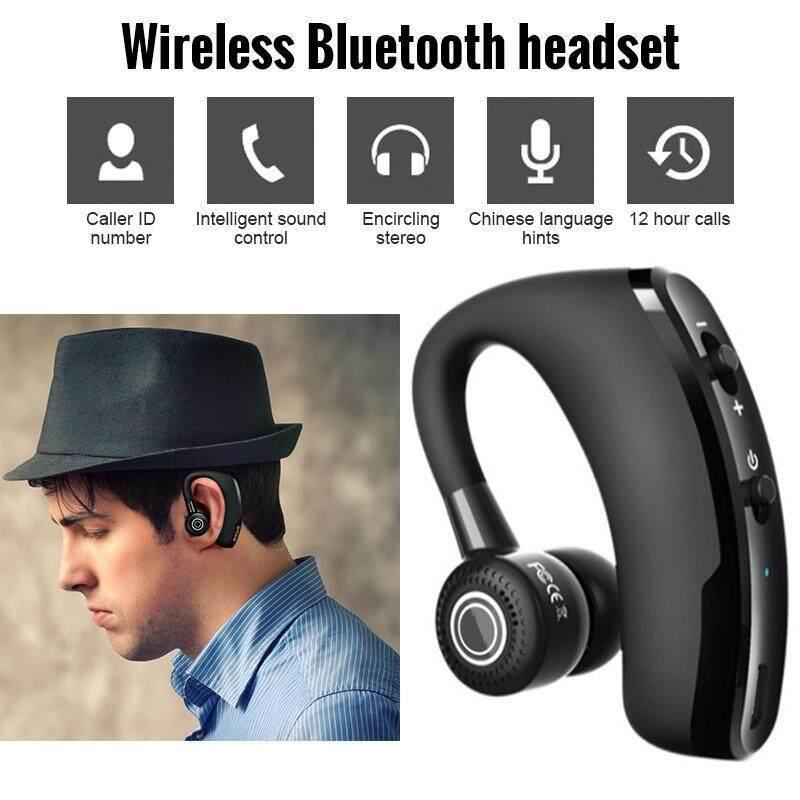 ใหม่ V9 บลูทูธไร้สายแบบแฮนด์ฟรีหูฟังบลูทูธการควบคุมเสียงรบกวนไร้สาย Bluetooth ชุดหูฟังพร้อมไมโครโฟนสำหรับไดร์เวอร์กีฬา.