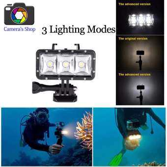 【Waterproof up to 40m 】FashionF  40m/130ft Mini Underwater Waterproof Diving LED Video Light Fill Lamp for Gopro  SJCam  XiaoYi, etc.-