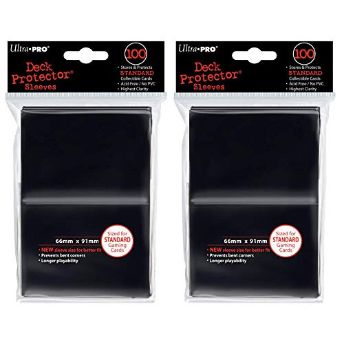 Ultra Pro Deck Protector Sleeves 100 Red for standard sized gaming cards