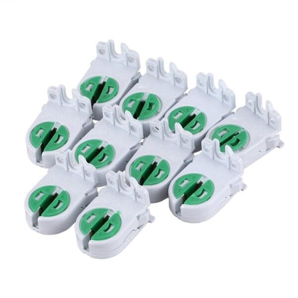10Pcs Dual Terminals T5 T4 Fluorescent Tube Bulb Lamp Holder Socket
