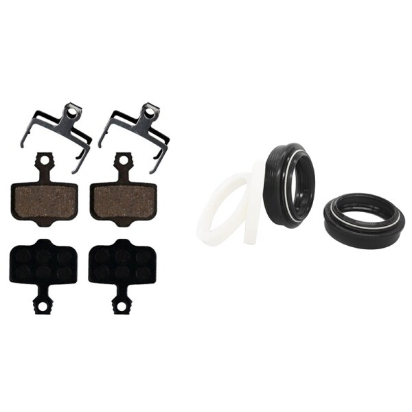 Mua 1 Set MTB Fork Dust Wiper Seal 30mm with Foam Ring O-Ring & 4 Pairs MTB Bicycle Disc Brake Pads