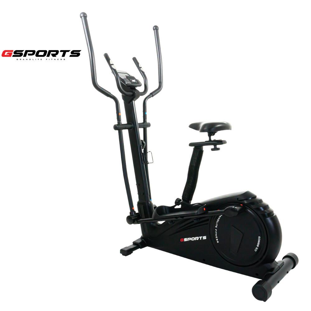 Gsports เครื่องเดินวงรีแบบมีที่นั่งแบบ 2-In-1 เป็นทั้งลู่เดินวงรีและจักรยานนั่งปั่น Elliptical รุ่น Gs-B8002/ Gs-B8803(สีดำ).