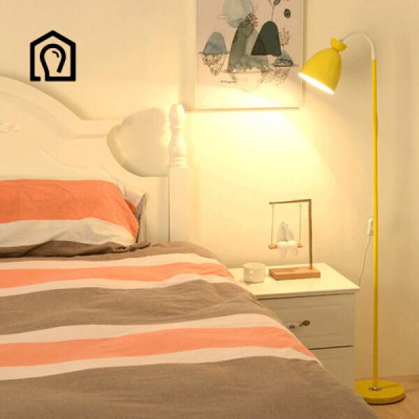 Bảng giá IHB138 Bắc Âu INS đèn sàn gió phòng ngủ đầu giường nghiên cứu đèn đọc sách phòng khách đơn giản mắt sáng tạo Đèn LED dọc