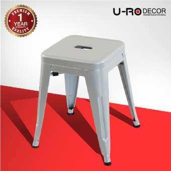 U-RO DECOR เก้าอี้สตูลเหล็ก รุ่น ZANIA-S (ซาเนีย-เอส) สไตล์ลอฟท์ เก้าอี้คาเฟ่ เก้าอี้ออกงาน เก้าอี้เหล็ก Chair บาร์สตูล Stool เก้าอี้บาร์สูง ขนาด 40x40x46 cm.