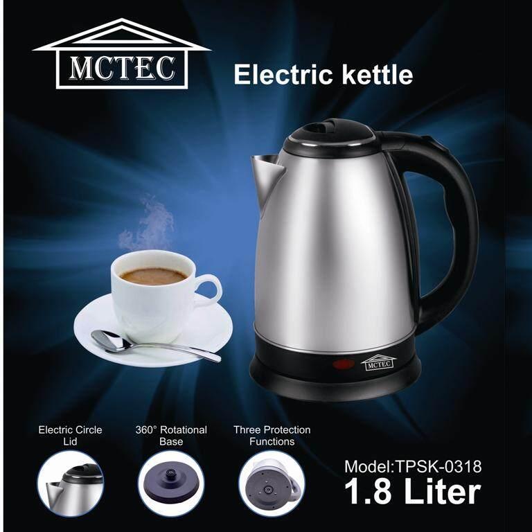 MCTEC กาต้มน้ำไร้สาย 1.8 ลิตร 1,500 วัตต์