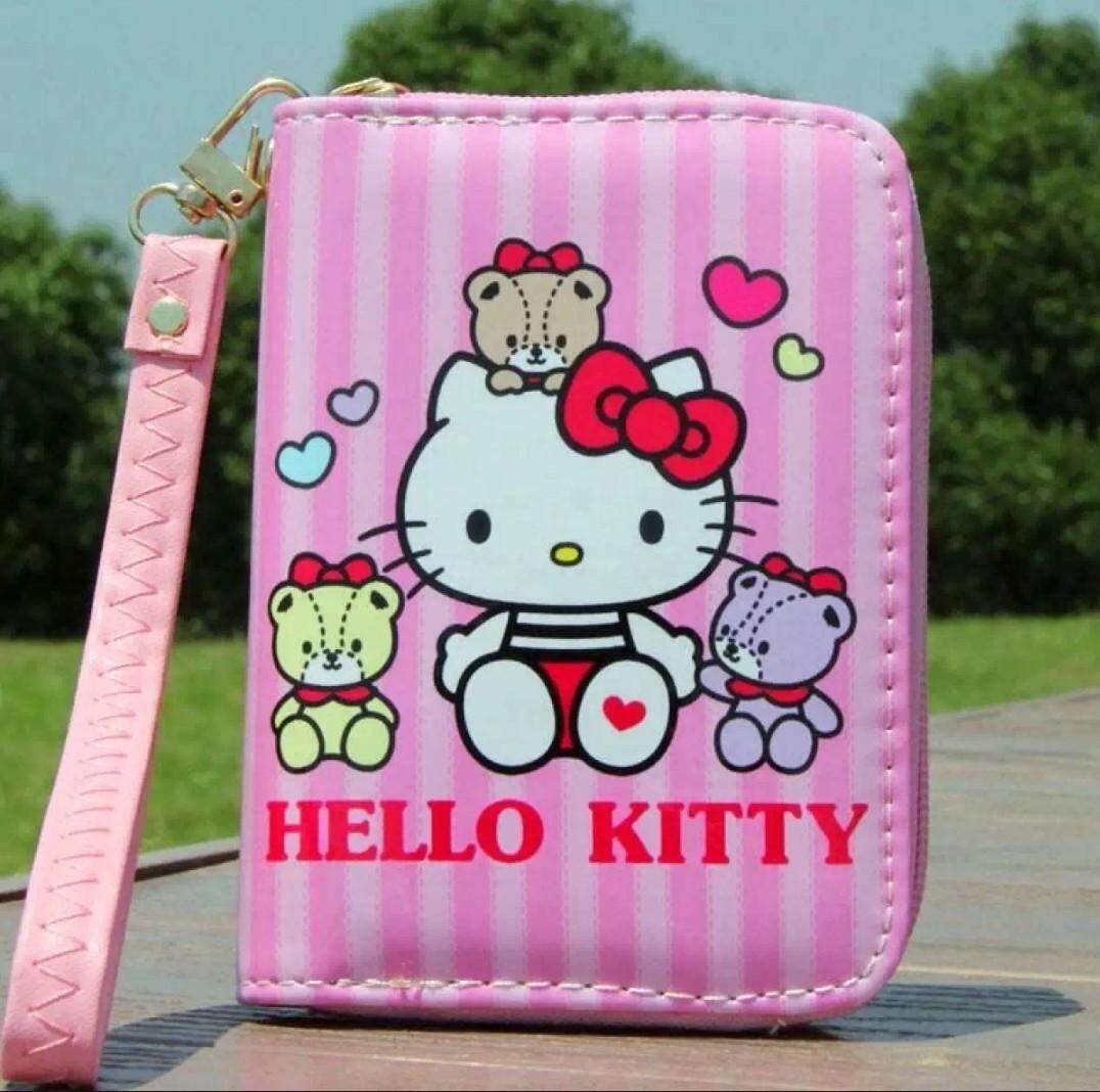 กระเป๋าสตางค์คิตตี้ กระเป๋าใส่เงินสตรี กระเป๋าใส่เหรียญ กระเป๋านามบัตรคิตตี้ลายใหม่ By K 88 Shop.