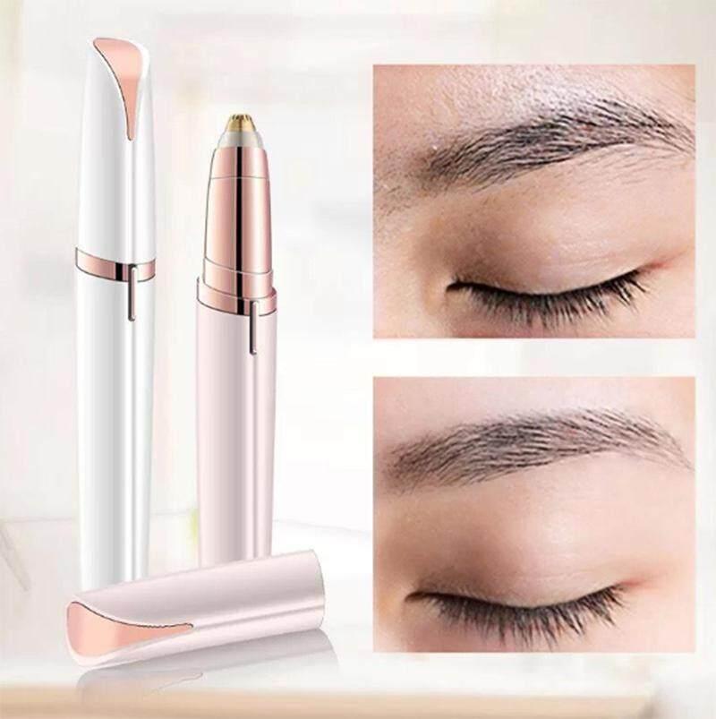 Shopping8 เครื่องกันคิ้วไฟฟ้าอเนกประสงค์ Hair Remover Tool เครื่องกันคิ้วไฟฟ้า flawless brows (ขาว)