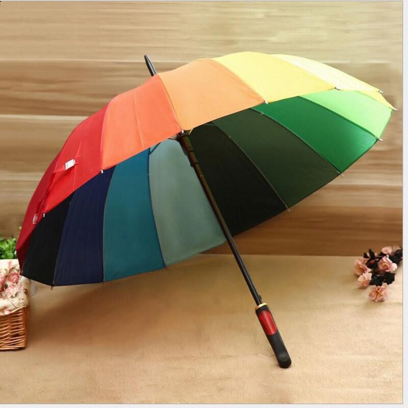 Tx Home ร่มขนาดใหญ่สีรุ้ง ร่มกันแดด ร่มกันยูวี ร่มแฟชั่น Umbrella 16สี สีสันสดใส วัสดุแข็งแรง ด้ามจับทนทานพอดีมือ.