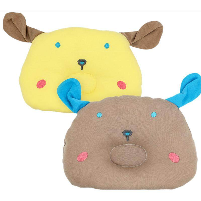 Baby Care Pillow Baby Pillow Baby Head Comfortable Soft Styling Pillow 2Pcs (Yellow + Brown)