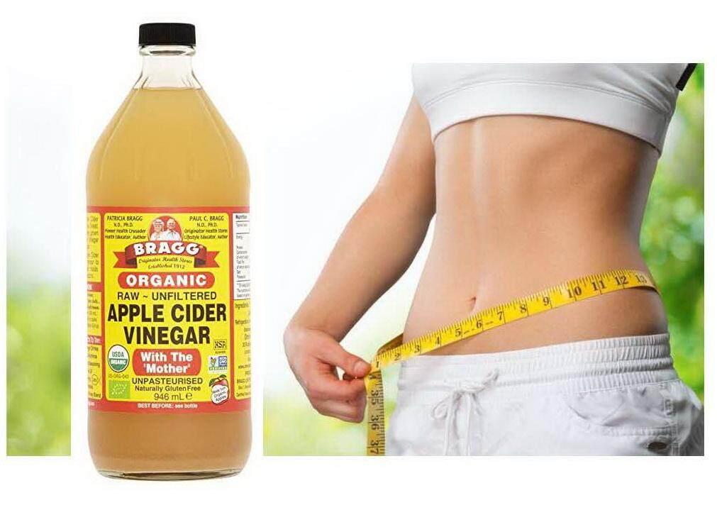 น้ำส้มสายชูหมักจากแอปเปิ้ลออร์แกนิค 946 มล. Apple Cider Vinegar Organic Bragg Brand (raw - Unfiltered) Number 1 Selling Brand Of Usa For Organic Apple Cider Vinegar ช่วยลดน้ำหนัก ช่วยล้างพิษในร่างกาย ชะลอความแก่  ช่วยลดน้ำหนักได้.