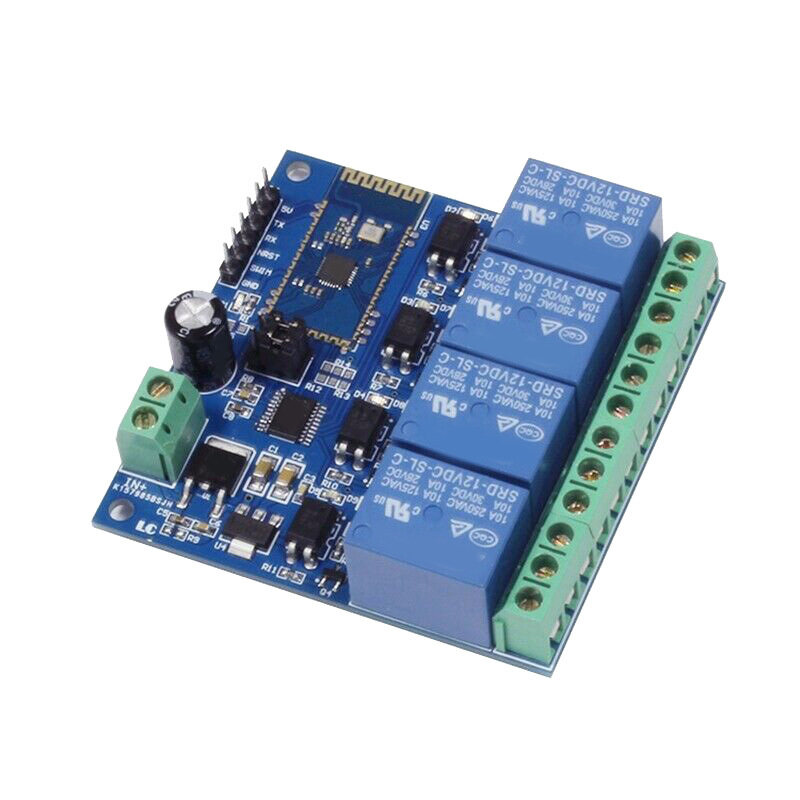 Bảng giá 12V 4CH Remote Control Switch Bluetooth Relay Module for Android Mobile Motor LED Light 10A/250VAC Phong Vũ