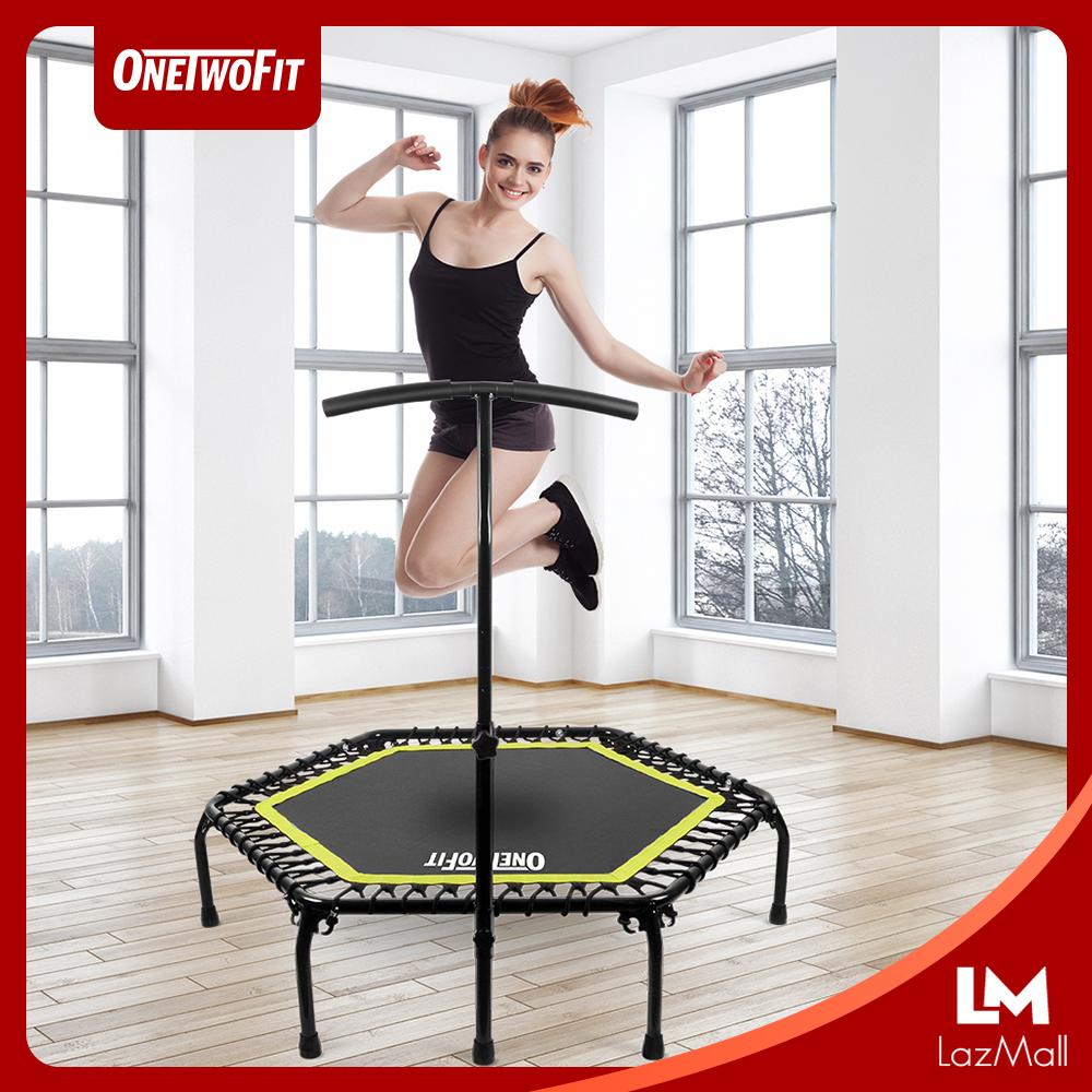 Onetwofit เทมโพลีน ขนาด 48 นิ้ว แทรมโพลีน เตียงกระโดด ที่กระโดด ออกกำลังกาย ฟิตเนต อุปกรณ์กีฬา.