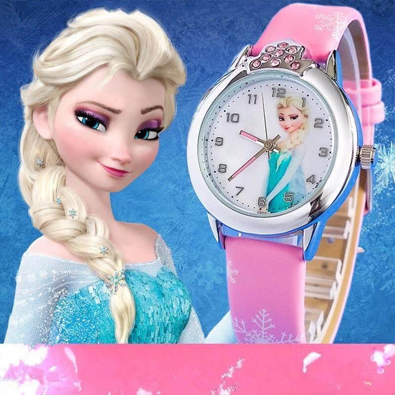 นาฬิกาข้อมือ สายหนัง เอลซ่า โฟรเซ่น สายสกรีน นาฬิกา หนัง Frozen Elza Elsa Anna แอนนา เจ้าหญิงน้ำแข็ง เจ้าหญิงหิมะ By Lovekoff.