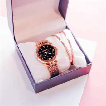 นาฬิกา GALAXY สวยหรูหรา ใส่สบายมือ แบรนด์ใหม่ รูปแบบ Analog นาฬิกาข้อมือสายโลหะแม่เหล็ก รุ่น GALAXY02-