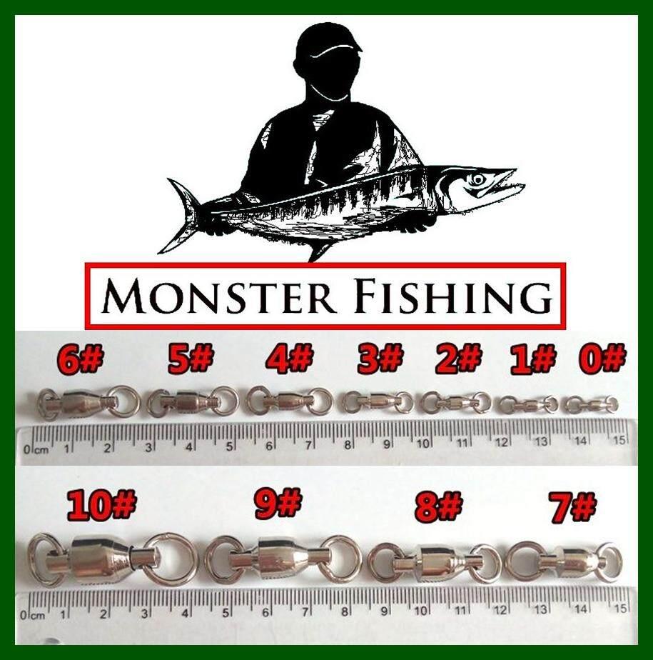 [ nutfishing ] ลูกหมุนแบริ่ง สแตนเลส Monster ทนน้ำเค็ม สำหรับงานหนัก เบอร์ #0 #1 #2 #3 #4 #5 #6 #7 #8 #10 (ชุดละ 10 ลูก)