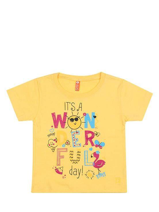 เสื้อยืดแขนสั้น สีเหลือง ไซส์ 1 ปี