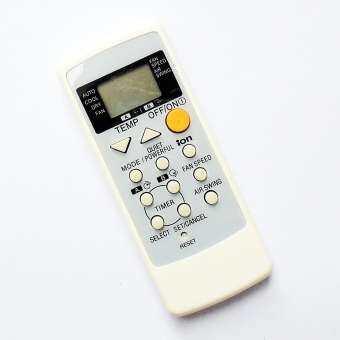 รีโมทใช้กับแอร์เนชั่นแนล - พานาโซนิค รหัส A75C2287 มีฟังก์ชั่น i-ON และ QUIET/POWERFUL , Reemote for NATIONAL - Panasonic Air Con. (สีขาว)