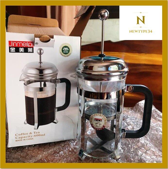 กาชงกาแฟ (ขนาด 600ml) French Press เหยือกชงกาแฟ ที่ชงกาแฟ เครื่องชงชากาแฟสแตนเลส.