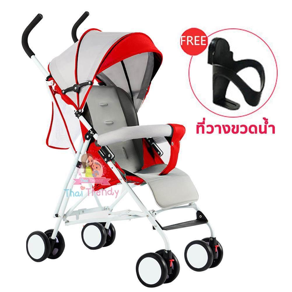 รีวิว Thaitrendy รถเข็นเด็ก Baby Stroller รับน้ำหนักได้ถึง 30kg แถมฟรี ที่วางขวดน้ำ