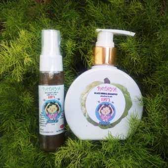 เซทกำจัดเหา แชมพูน้อยหน่า สารสกัดธรรมชาติ เข้มข้น1ขวด 60 ml +สเปรย์กำจัดเหา 1ขวด30g  Herbal shampoo to get rid of lice. 1 bottle of natural extract, 60 ml+ Lice spray 1 bottle 30g